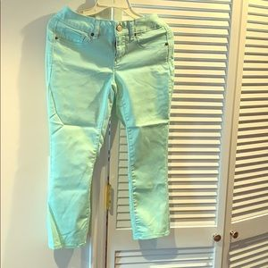 Pants - Torquiest Capri or sea foam colored